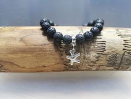 Lavastein Armband mit Seestern