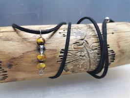 Halskette Tigerauge mit Bergkristall