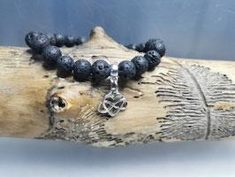 Armband mit Keltischen Knoten & Lavastein