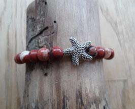 Roter Jaspis Edelstein Armband