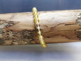 Citrin Armband mit Bergkristallperle 100 % Natur