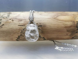 Bergkristall mit Silberkette