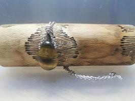 Tigerauge mit Silberkette