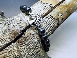 Armband Hämatit mit Lebensbaum