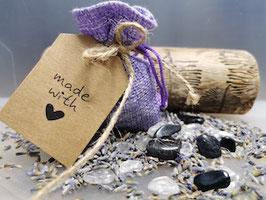 Lichtbringer Heilsteine im Lavendel Säckchen