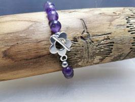 Amethyst Armband mit Blume