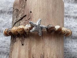 Jaspis Armband Mit Seesternperle