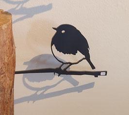 Metalbird - roodborstje van cortenstaal