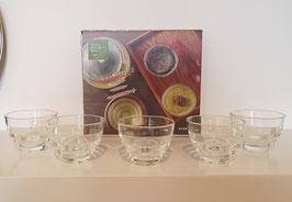 Hario Yunomi glazen tea/coffeecups - set van 5