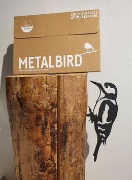 Metalbird - specht van cortenstaal