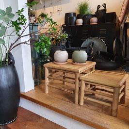 Bamboo bijzettafeltjes - set van 2