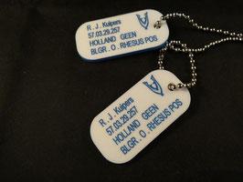 Dogtags gekleurd zonder veteranen V.