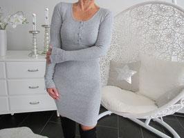 Elastisches Kleid mit Design - Knöpfen