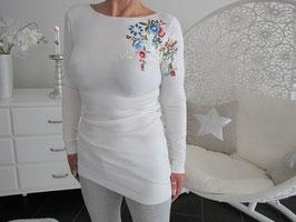 Pullover mit einseitigem Blumendekor