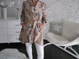 Mantel im Hibiskus Design