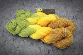 """Sockenwolle Aktiv Baumwolle, 100g, 4fach """"Sunflower"""""""
