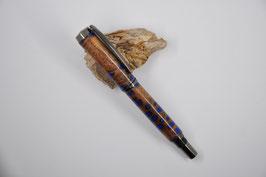 "Tintenroller ""Rom"" in Banksia Zapfen (in dunkelblauem Epoxid)"