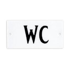 Emaille Schild WC