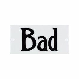 Emaille Schild Bad