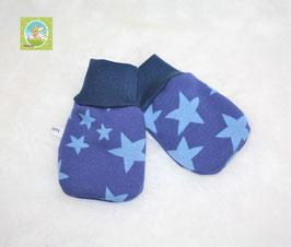 ♥ Baby Fäustlinge Wunschgröße Sterne blau ♥