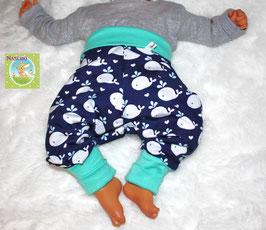 ♥ Babyhose Jersey Wunschgröße Wal blau ♥
