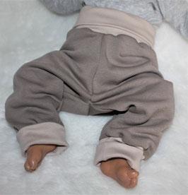 ♥ Babyhose Sweat Nature helltaupe Gr. 62/68 ♥