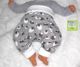 ♥ Babyhose Jersey Wunschgröße Schafe grau ♥