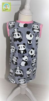 ♥ Babykleid Jersey Wunschgröße Panda ♥