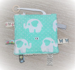 ♥ Knistertuch Love Elephants mint N0377 ♥