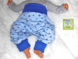 ♥ Babyhose Jersey Wunschgröße Sterne blau ♥