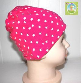 ♥ Baby und Kinder Mütze Sterne pink ♥