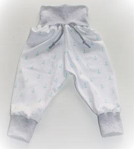 ♥ Babyhose Jersey Wunschgröße Anker weiß mint ♥