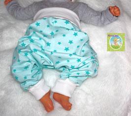 ♥ Babyhose Jersey Wunschgröße Sterne mint ♥