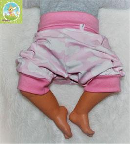 ♥ kurze Jersey Sommer Pumphose Wunschgröße rosa Wolken ♥