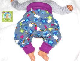 ♥ Babyhose Jersey Wunschgröße Regenbogen ♥