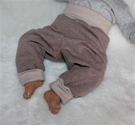 ♥ Babyhose Sweat Nature braun  Gr. 62/68 und 74/80 ♥