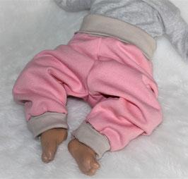 ♥ Babyhose Sweat Nature rosa  Gr. 62/68 und 74/80 ♥