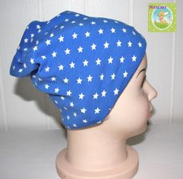 ♥ Baby und Kinder Mütze Sterne blau ♥