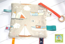 ♥ Knistertuch Segelboote N0296 ♥
