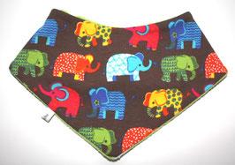 ♥ Herbst / Winter Halstuch Elefanten braun bunt ♥