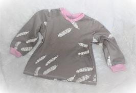 ♥ Baby Langarmshirt Jersey Feder ♥