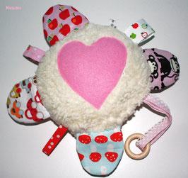 ♥ Fühl- und Hörkissen N0025 rosa rot ♥