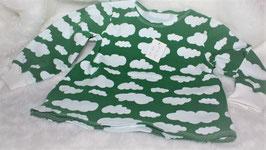 ♥ Baby Langarmshirt Jersey Wolken grün Gr. 62  ♥