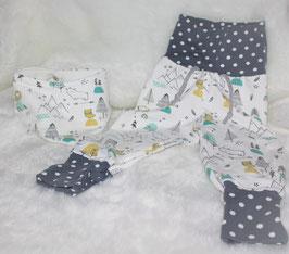 ♥ Babyhose Jersey Bergland Gr. 62/68 mit passendem Halstuch  ♥