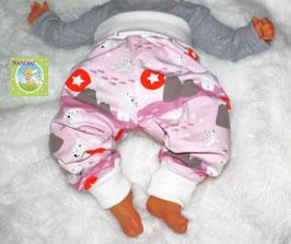 ♥ Babyhose Jersey Wunschgröße Eisbär rosa ♥
