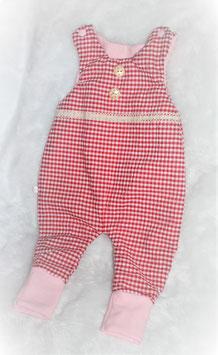 ♥ Baby Strampler Seersucker Jersey rosa rot Karo Gr. 62 ♥