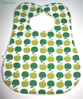 ♥ XL Lätzchen retro Äpfel grün - bis 4 Jahre ♥