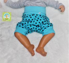♥ kurze Jersey Sommer Pumphose Gr. 50/56 türkis dunkelblau ♥