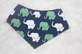 ♥ Frühjahr / Sommer Halstuch Elefanten mint weiß / Streifen ♥