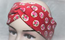 ♥ Stirnband / Haarband Blumen rot ♥
